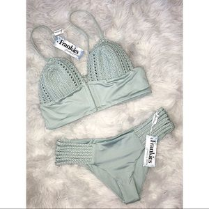 NWT Frankie's Bikinis Crochet Set